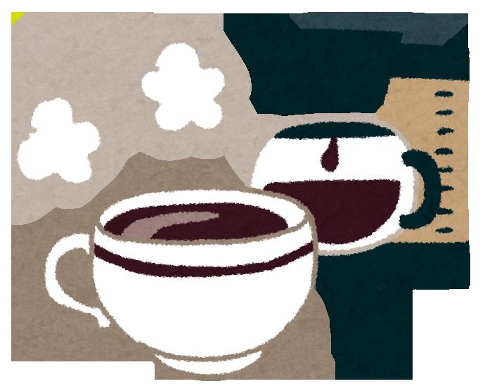 熱々の淹れたてドリップコーヒー