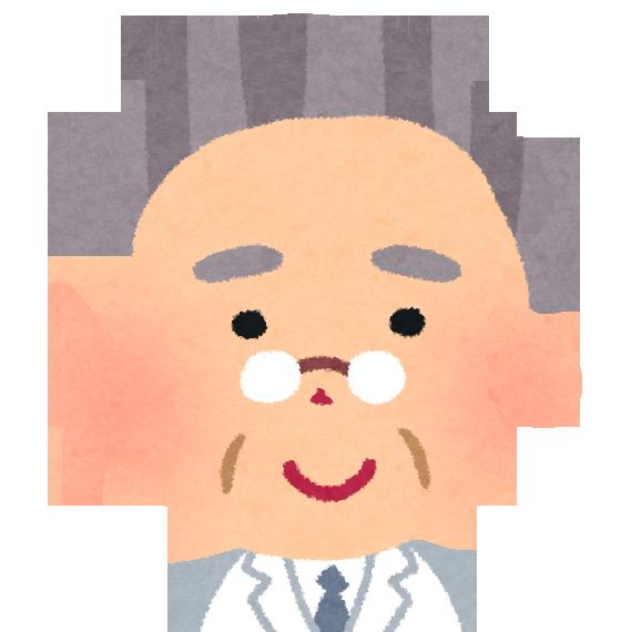 白髪交じりの初老のベテラン医師