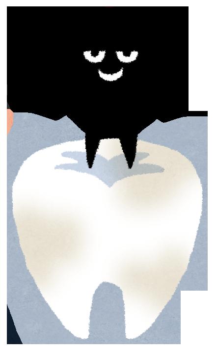 歯に穴を開ける虫歯菌のイラスト